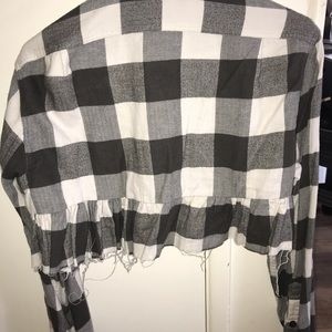 Urban Outfitters cropped flannel!